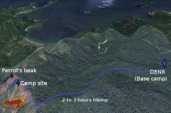 pico de loro trail map